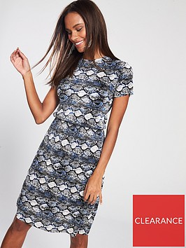 v-by-very-plissenbspjersey-snake-dress-printed