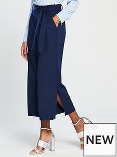 warehouse-tie-side-split-culottes-navynbsp