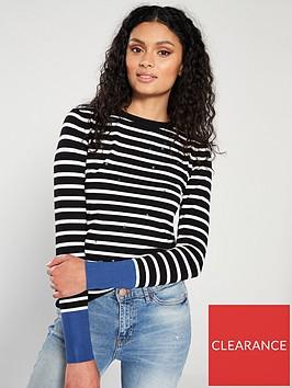 warehouse-star-embroidered-stripe-jumper