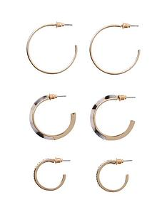 c633d8ec848 River Island Hoop Earring Pack - Gold
