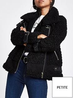 river-island-faux-shearling-aviator-jacket-black