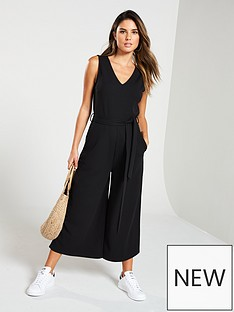 74f9d4b1a73 V by Very Sleeveless Culotte Jumpsuit