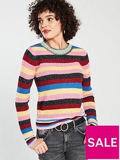 river-island-rainbow-lurex-jumper-pink