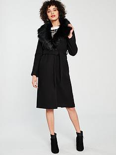 river-island-river-island-faux-fur-collar-coat-black