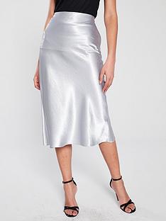 river-island-river-island-metallic-midi-skirt-silver