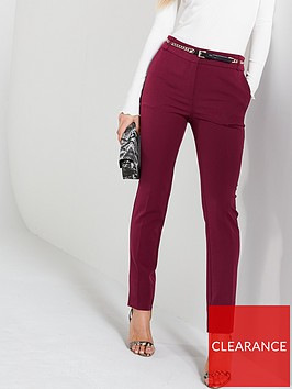 v-by-very-chain-belted-slim-leg-trousers-berry