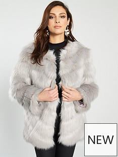 river-island-faux-fur-panel-coat-grey