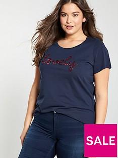 junarose-curve-jasine-roxy-t-shirt-navy