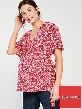 mama-licious-tess-short-sleeve-woven-nursing-top-ditsy-print