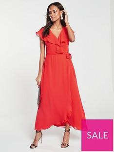 vero-moda-vida-ruffle-wrap-midi-dress-red