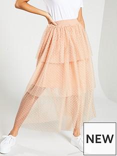 yas-cindy-high-waisted-polka-dot-ruffle-skirt-ndash-peach