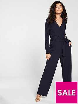 vero-moda-long-sleeve-jumpsuitnbspwith-button-detailing-navy