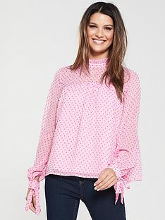 vero-moda-vero-moda-katja-polka-dot-high-neck-blouse