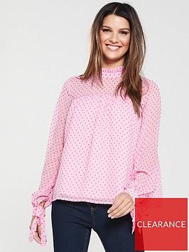 vero-moda-vero-moda-katja-polka-dot-high-neck-blouse
