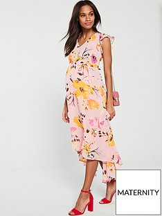 6afae7d8bc93 Mama-Licious Mamalicious Maternity Bell Woven Midi Dress