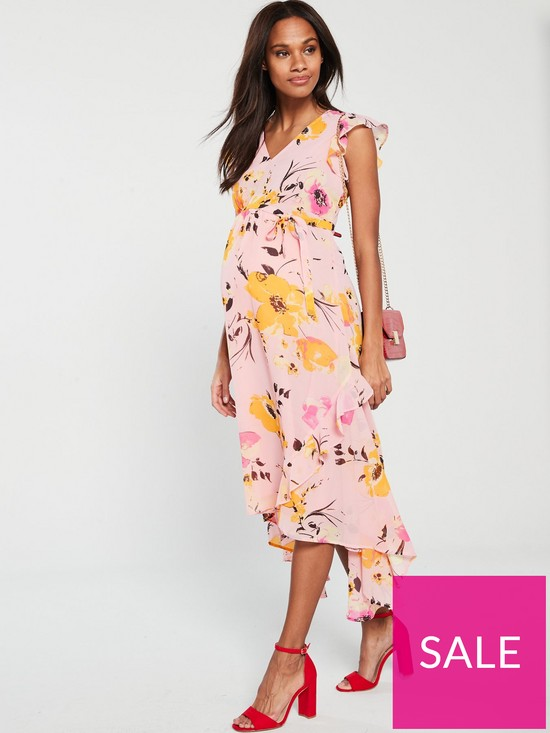 25f12be6a71ef Mama-Licious Mamalicious Maternity Bell Woven Midi Dress | very.co.uk
