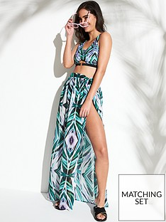 wolf-whistle-abstract-palm-print-beach-skirt