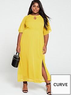 junarose-cape-sleeve-maxi-dress-yellow