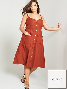 8a071a0c6ee JUNAROSE Lobe Strappy Midi Dress - Brown