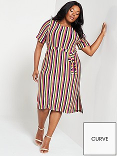 7f745993e7ee JUNAROSE Curve Harfun Stripe Dress