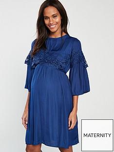46fec82494f625 Mama-Licious Mamalicious 3 4 Woven Maternity Dress