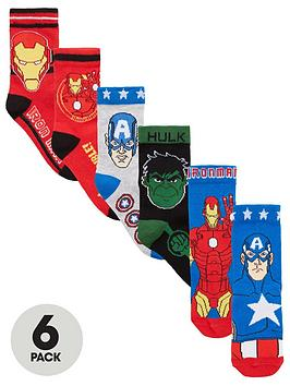 the-avengers-boys-6-pack-socks--nbsp-multi