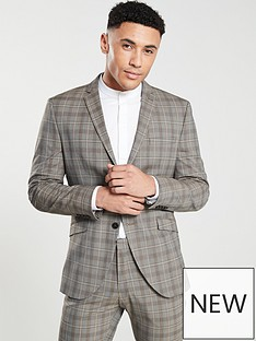 selected-homme-slim-fit-checked-suit-jacket-brown