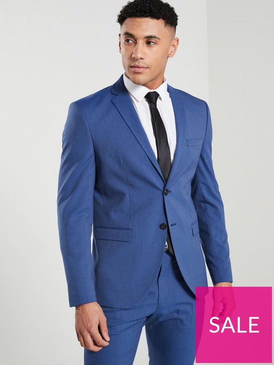 9bfee303778b Selected Homme Slim Fit Suit Jacket - Bright Blue | very.co.uk