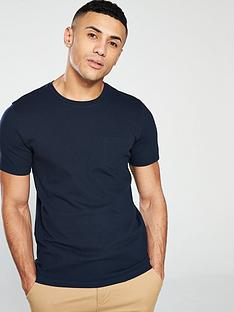 selected-homme-wave-textured-t-shirt-navy