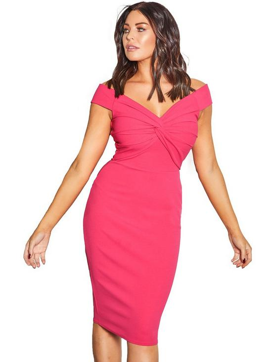 ccb9485f79 Sistaglam Loves Jessica Sistaglam Loves Jessica Wright Off The Shoulder  Bodycon Midi Dress