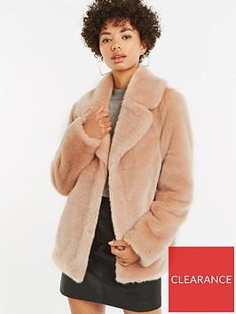 oasis-faux-fur-coat-pale-pinknbsp