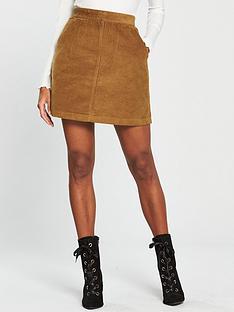 warehouse-cord-a-line-skirt