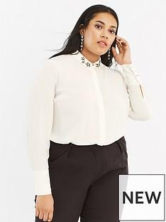 oasis-curve-oasis-curve-star-embellished-collar-shirt