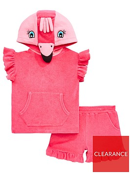 mini-v-by-very-girls-2-piece-flamingo-towel-top-and-shorts-outfit-pink