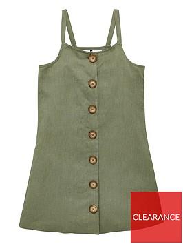 v-by-very-girls-linen-button-dress--nbspkhaki