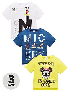 06437b3529e5 Mickey Mouse Boys 3 Pack Short Sleeve T-Shirts - Multi
