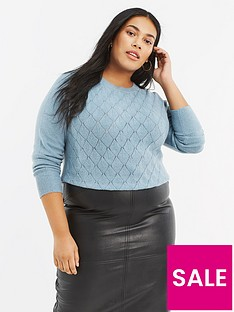 oasis-curve-oasis-curve-blair-cosy-stitch-perfect-crew-jumper