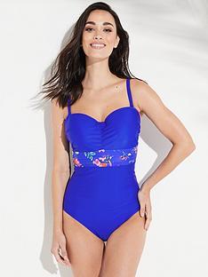 panache-florentine-floral-bandeau-swimsuit-blue