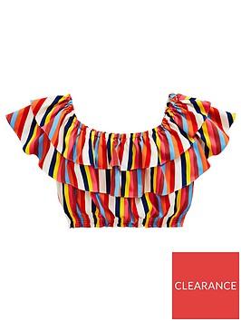 v-by-very-girls-bardot-stripe-ruffle-top-multi