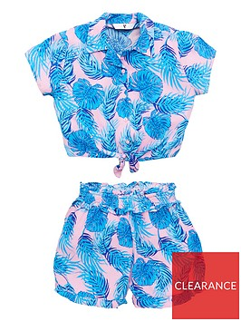 v-by-very-girls-tropical-shirt-amp-top-co-ord-outfit-multi