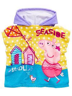 peppa-pig-girls-hooded-poncho