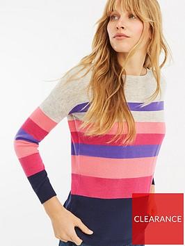 oasis-bridgette-stripe-knitted-jumper-multi