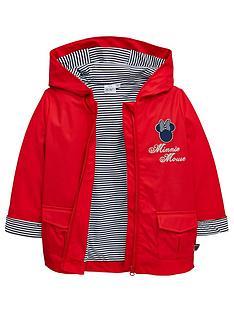 45deb9040ed Minnie Mouse Girls Showerproof Jacket - Red