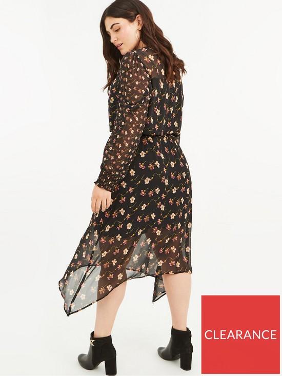 28ed55e9c770 ... Oasis Curve Freida Floral Chiffon Midi Dress - Black. View larger