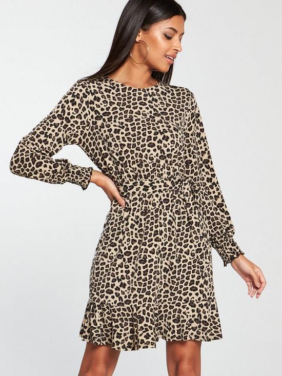 18c56a205ea0 Oasis Crepe Dress - Animal Print   very.co.uk
