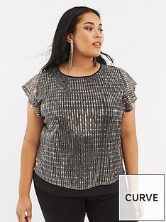 oasis-curve-sequin-plisse-tee-silver