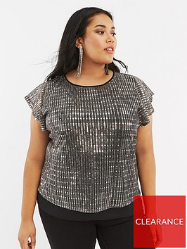 oasis-curve-sequin-plisse-tee-silver