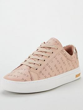 dkny-court-lace-up-trainers-nude