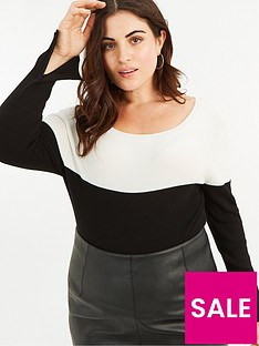 oasis-curve-cery-colourblock-jumper