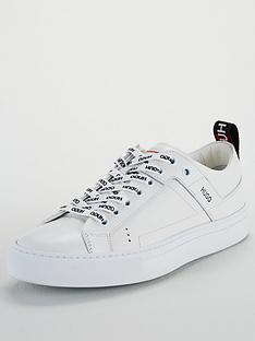 6695b746bd73 HUGO Mayfair Low Cut Trainers - White | very.co.uk